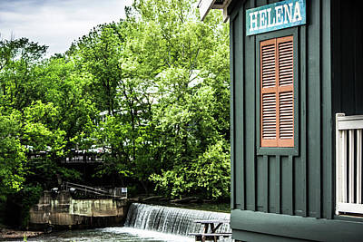 Poster featuring the photograph Helena Sign By Buck Creek by Parker Cunningham