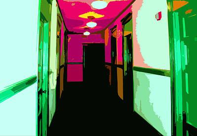 Helen's Apartments Hallway Poster by Nilla Haluska