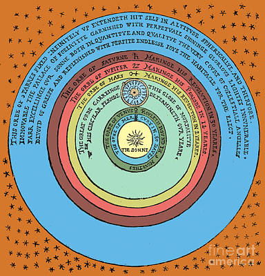 Heliocentric Universe, Thomas Digges Poster by Science Source