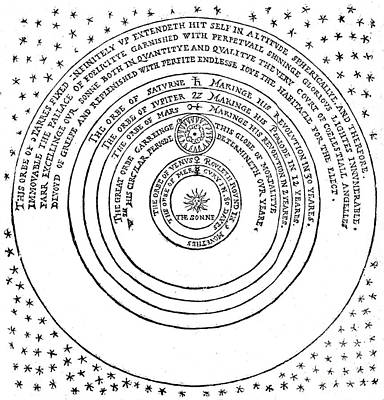 Heliocentric Universe, Thomas Digges Poster by Wellcome Images