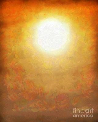 Hello Sunshine - White Hot Sun Poster