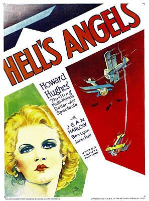 Hells Angels, Jean Harlow On Window Poster