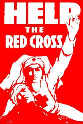 Help The Red Cross Poster by MotionAge Designs