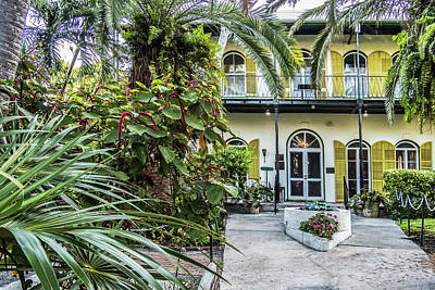 Poster featuring the photograph Hemingway House - Key West by Bob Slitzan