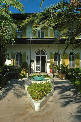 Hemingways House Key West Poster