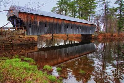 Hemlock Covered Bridge Fryeburg Maine Poster