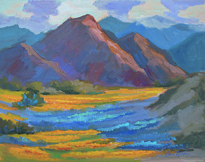 Poster featuring the painting Henderson Canyon Borrego Springs by Diane McClary