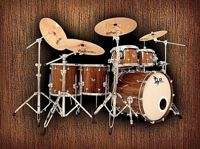Hendrix  Drums Poster by Shavit Mason