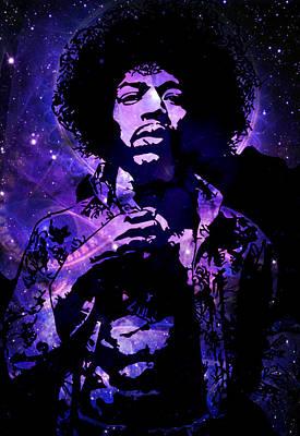Hendrix Nebula Hendrix Poster by Andy Rowlands