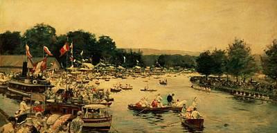 Henley Regatta Poster by James Jacques Joseph Tissot