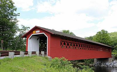Henry Covered Bridge Poster by Wayne Toutaint