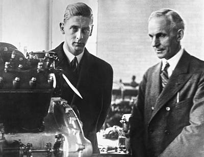 Henry Ford & Prince Nicholas Poster by Underwood Archives