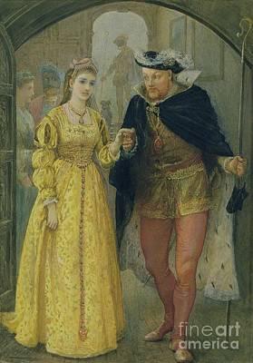Henry Viii And Anne Boleyn  Poster by Arthur Hopkins