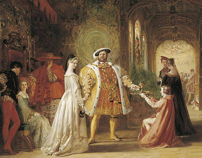 Henry Viiis First Interview With Anne Boleyn Poster by Daniel Maclise