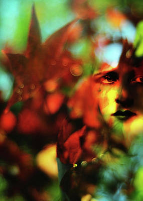 Her Autumn Eyes Poster by Rebecca Sherman