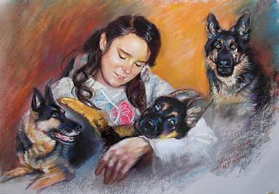 Her Best Friends Poster by Ylli Haruni