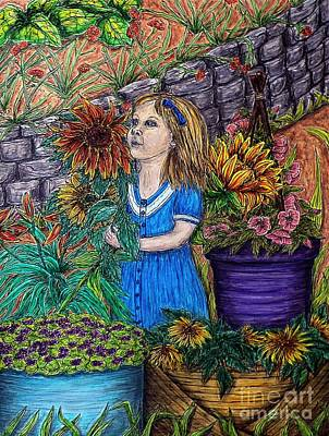 Her First Garden Poster