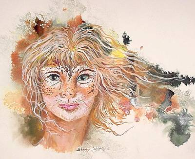 Her Inner Cat Poster by Sherry Shipley