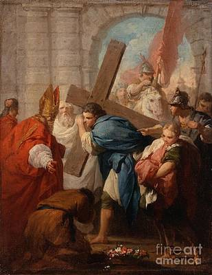 Heraclius Carrying The Cross Pierre Subleyra Poster