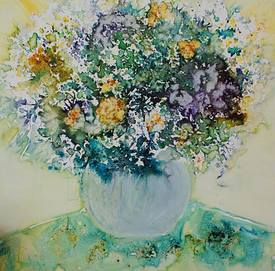Poster featuring the painting Herbal Bouquet by Joanne Smoley