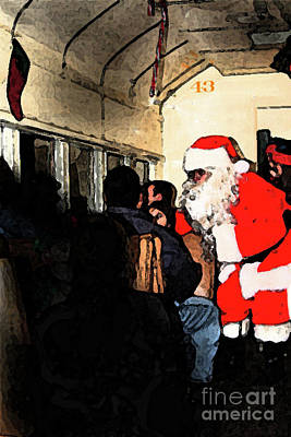 Poster featuring the photograph Here Come Santa by Kim Henderson