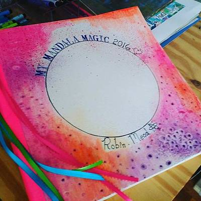 Here Is My 12 X12 Inch Mandala Journal Poster