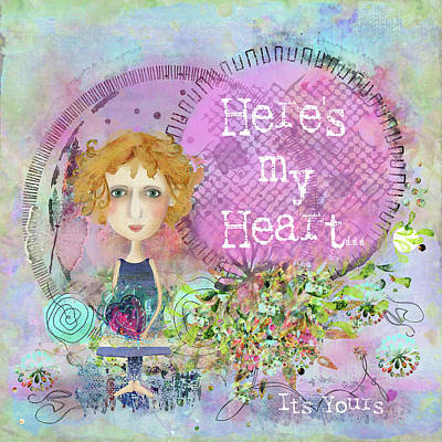 Here's My Heart Poster by Carla Parris