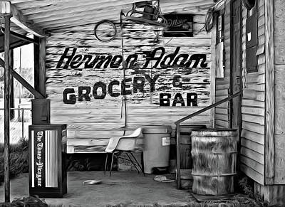 Herman Had It All - Paint Bw Poster