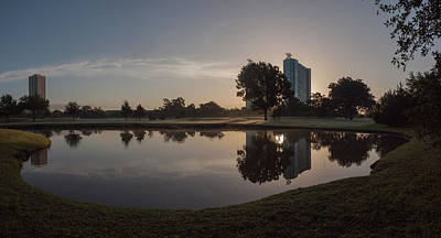 Poster featuring the photograph Hermann Park Sunrise by Joshua House