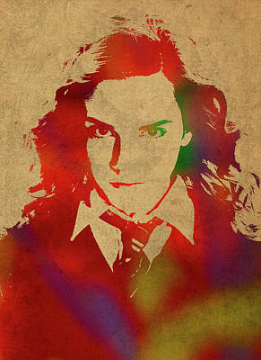 Hermione Granger From Harry Potter Watercolor Portrait Poster