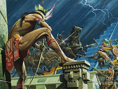 Hernando Cortes Poster by Severino Baraldi