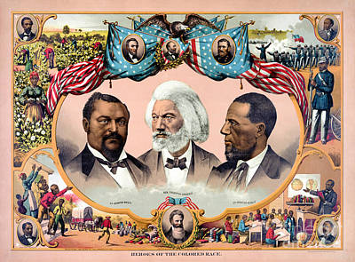Heroes Of The Colored Race Poster 1881 Restored Poster by Carsten Reisinger