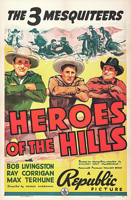 Heroes Of The Hills 1938 Poster by Republic
