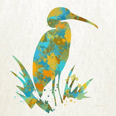 Heron Watercolor Art Poster