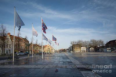 Het Zand, Bruges Poster by Nichola Denny