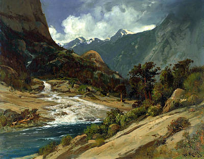 Hetch Hetchy Side Canyon, I Poster by William Keith