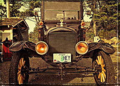 Hey A Model T Ford Truck Poster