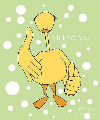 Hi Friend Poster by Kids Lolll
