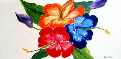Poster featuring the painting Hibiscus by Jamie Frier