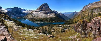 Hidden Lake Bearhat Mountain Reflections Poster