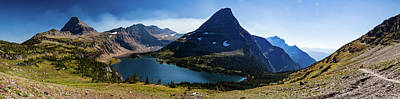 Poster featuring the photograph Hidden Lake Panorama At Glacier National Park by Lon Dittrick