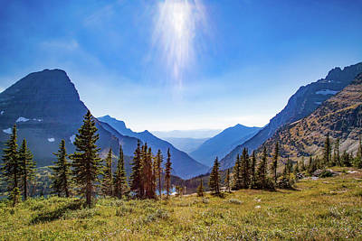 Poster featuring the photograph Hidden Lake Valley Glacier National Park by Lon Dittrick