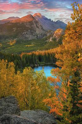 Hidden Overlook - Bear Lake Colorado By Thomas Schoeller Poster by Thomas Schoeller