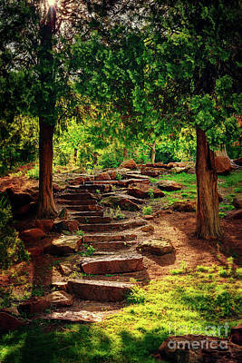 Hidden Path At Honor Heights Park Poster by Tamyra Ayles
