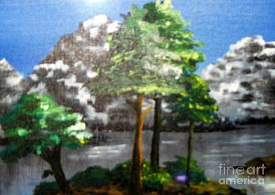 Poster featuring the painting Hideaway by Saundra Johnson