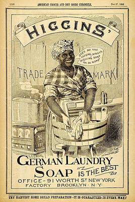 Poster featuring the digital art Higgins German Laundry Soap by ReInVintaged