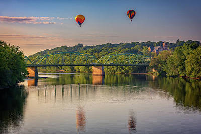 High Above The Androscoggin Poster