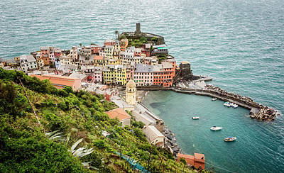 High Above Vernazza Cinque Terre Italy Poster