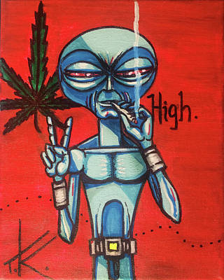 High Alien Poster
