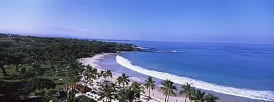 High Angle View Of A Beach, Mauna Kea Poster
